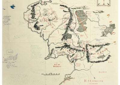 Annotated map of Middle-earth (MS. Tolkien Drawings 132, © The Tolkien Estate Limited 2016)