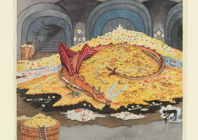Conversation with Smaug (MS. Tolkien Drawings 30, © The Tolkien Estate Limited 1937)